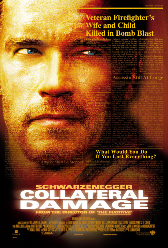 "poster for ""Collateral Damage"" by Andrew Davis(2002)"