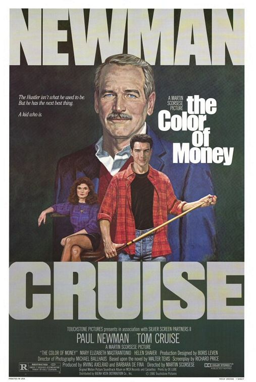 "poster for ""Color of Money, The"" by Martin Scorsese(1986)"