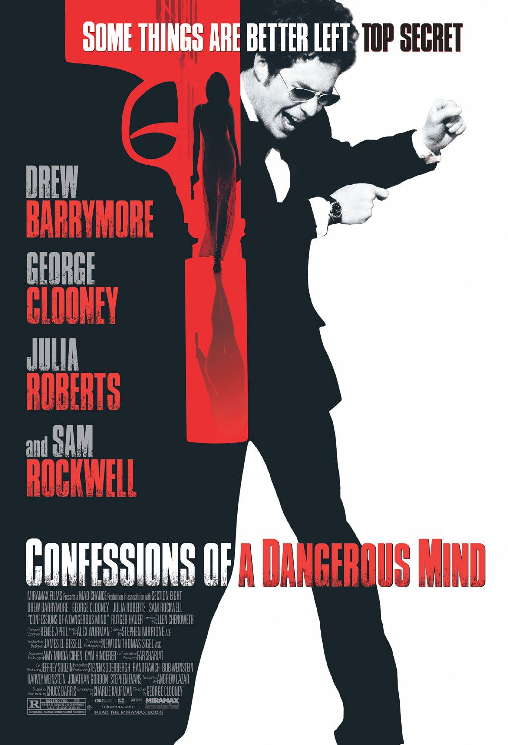"poster for ""Confessions Of A Dangerous Mind"" by George Clooney (2002)"