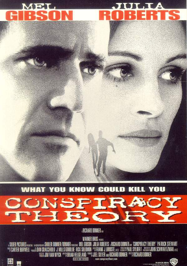 "poster for ""Conspiracy theory"" by Richard Donner (1997)"