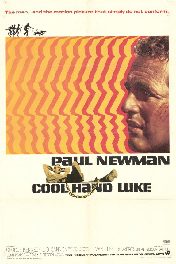 "poster for ""Cool Hand Luke"" by Stuart Rosenberg(1967)"