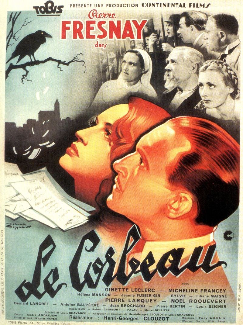"poster for ""Corbeau, Le"" by Henri-Georges Clouzot (1943)"