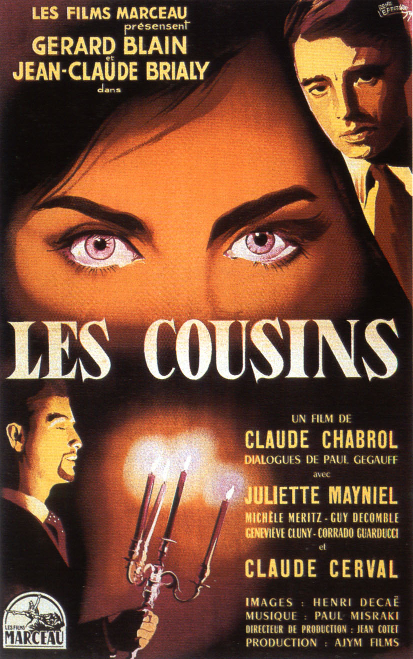 "poster for ""Cousins, Les"" by Claude Chabrol (1959)"