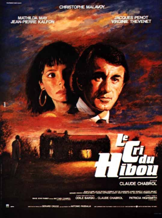 "poster for ""Cri du Hibou, Le"" by Claude Chabrol(1987)"