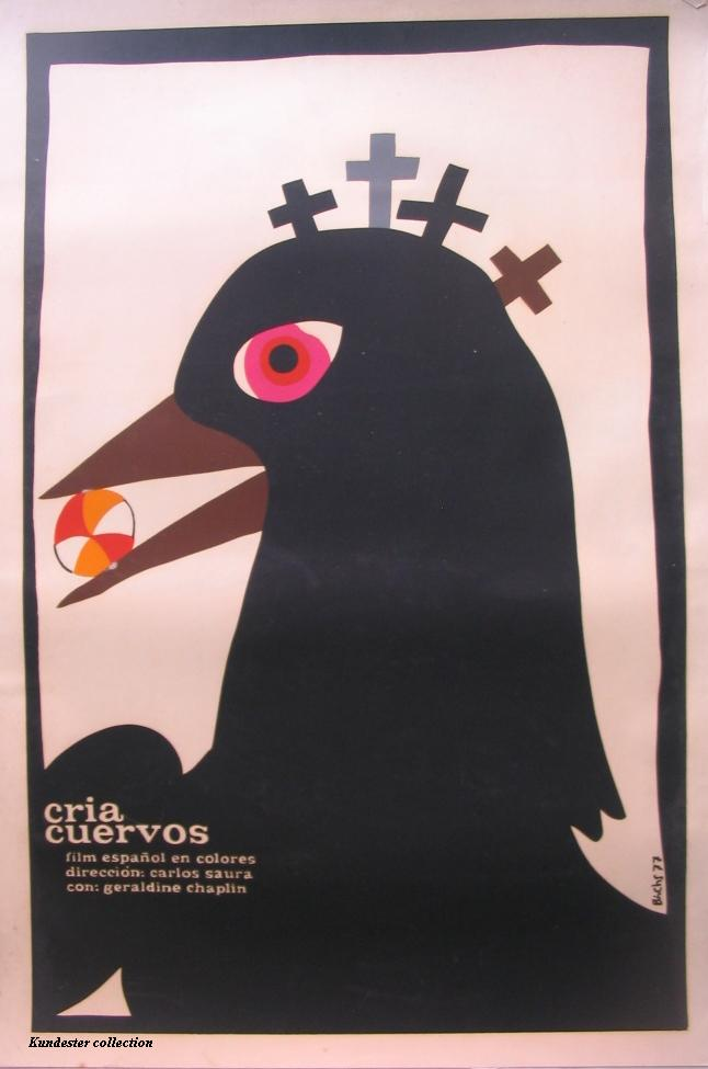"poster for ""Cria Cuervos"" by Carlos Saura(1976)"
