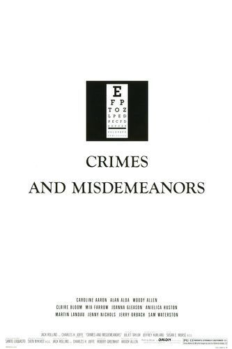 "poster for ""Crimes and Misdemeanors"" by Woody Allen(1989)"