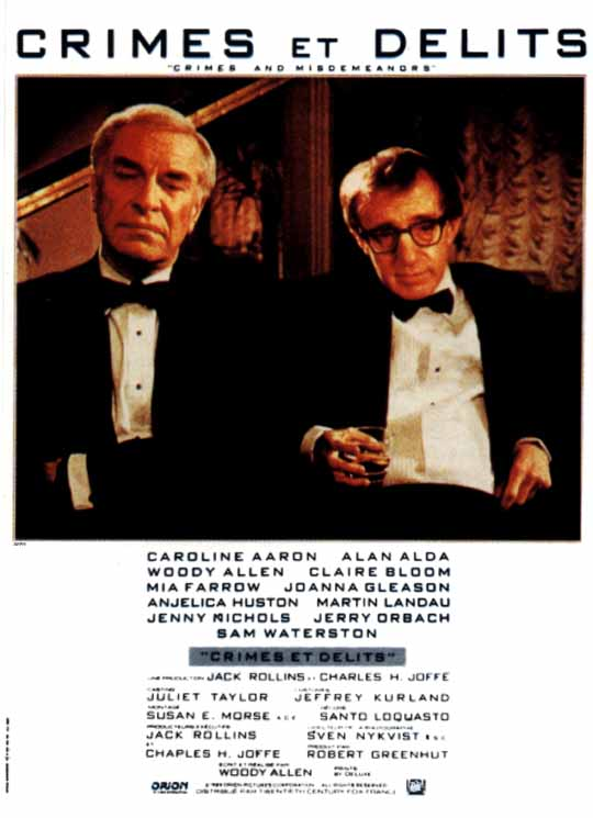 "poster for ""Crimes and Misdemeanors"""