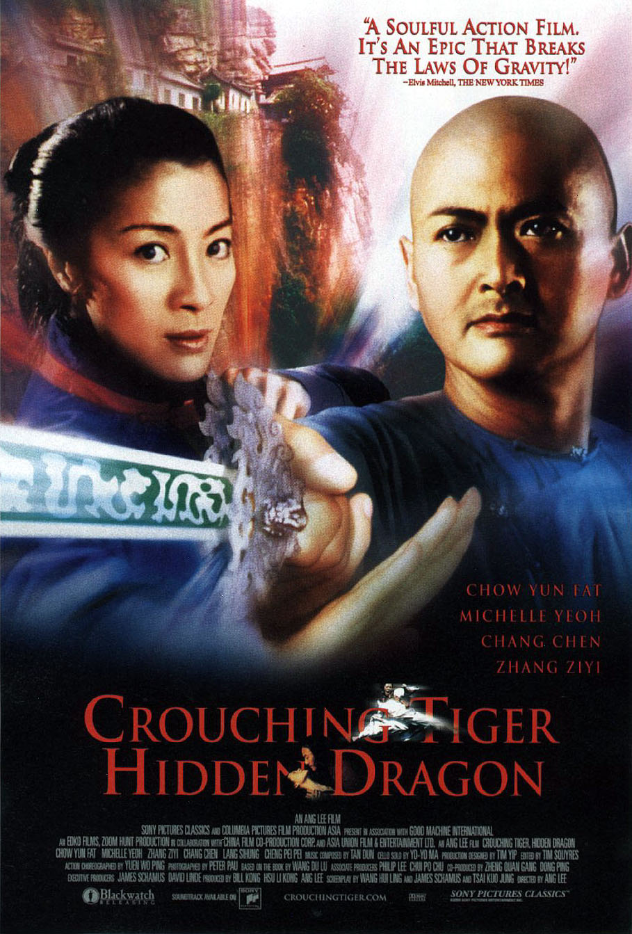 "poster for ""Wo hu cang long (Crouching Tiger Hidden Dragon)"" by Ang Lee(2000)"