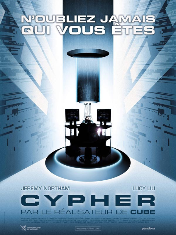 "poster for ""Cypher"" by Vincenzo Natali(2002)"