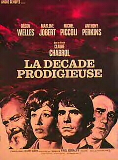 "poster for ""D�cade prodigieuse, La (Ten Days Wonder)"" by Claude Chabrol(1971)"