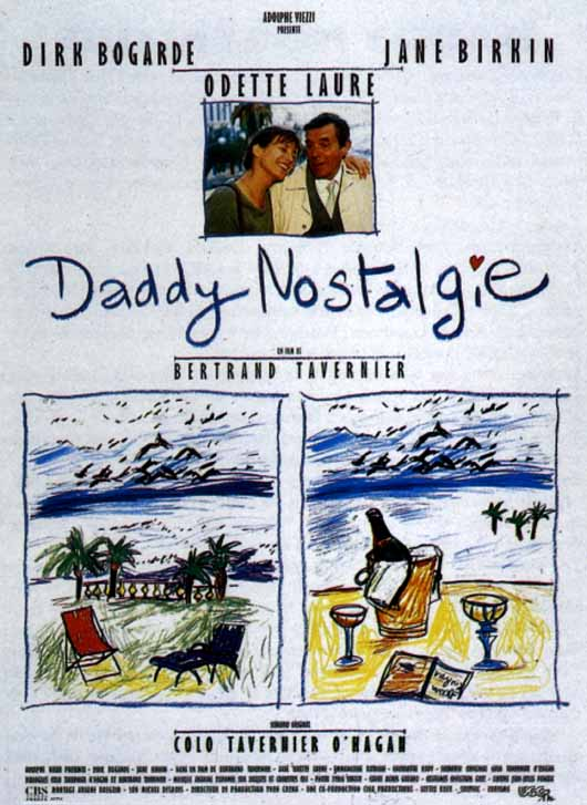"poster for ""Daddy Nostalgie"" by Bertrand Tavernier (1990)"