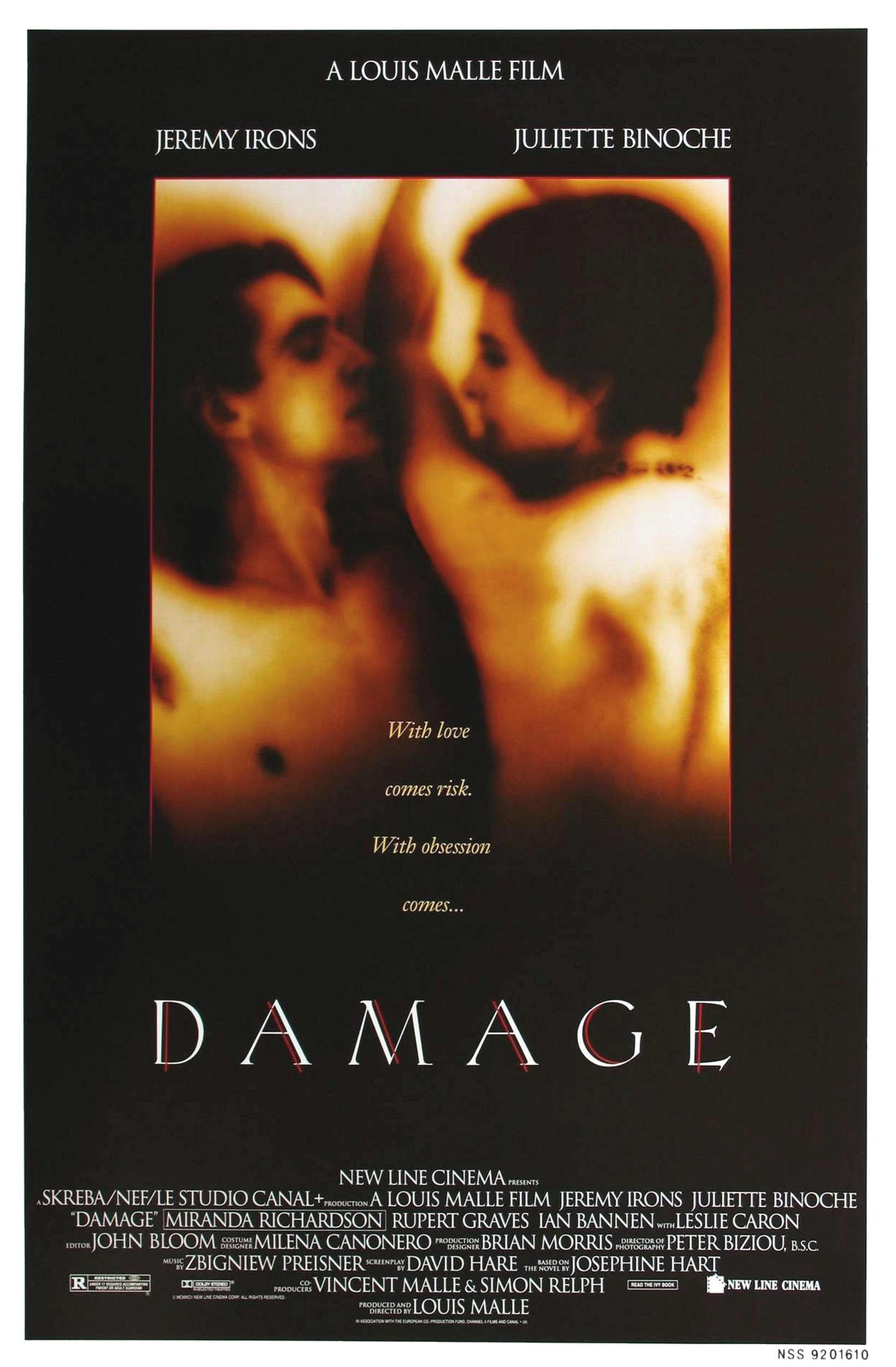 "poster for ""Damage"" by Louis Malle(1992)"