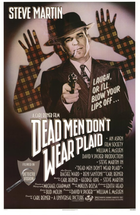 "poster for ""Dead men don't wear plaid"" by Carl Reiner(1982)"