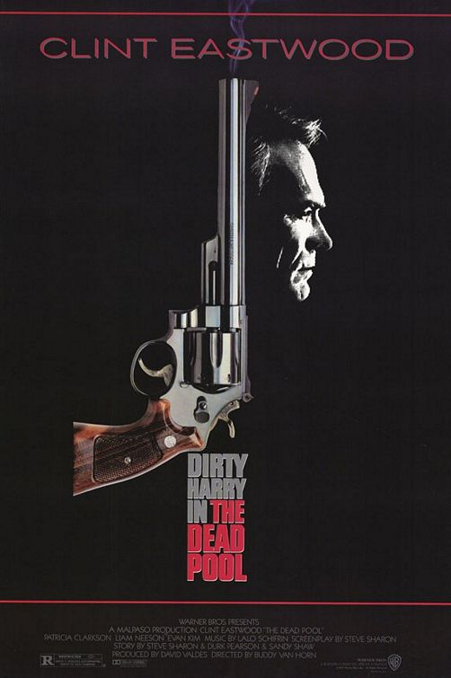 "poster for ""Dead Pool, The"" by Clint Eastwood (1988)"