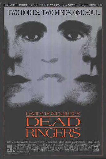 "poster for ""Dead Ringers"" by David Cronenberg(1988)"