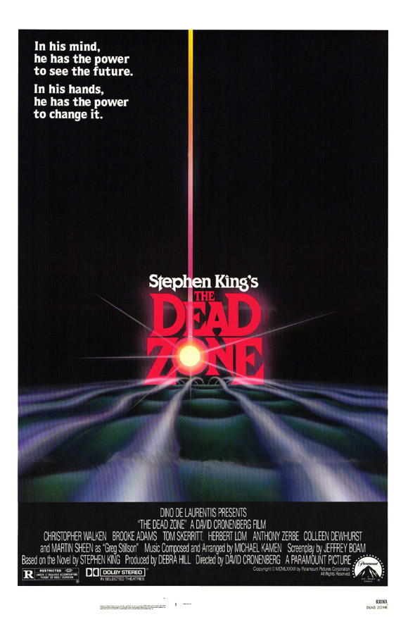 "poster for ""Dead Zone, The"" by David Cronenberg (1983)"