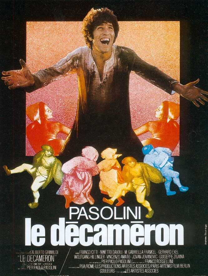 "poster for ""Decamerone, Il"" by Pier Paolo Pasolini(1971)"