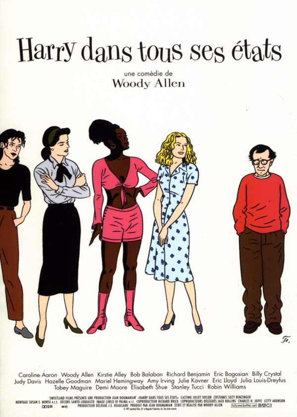 "poster for ""Deconstructing Harry"" by Woody Allen (1997)"