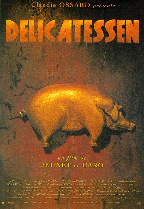 "poster for ""Delicatessen"" by Jean-Pierre Jeunet 