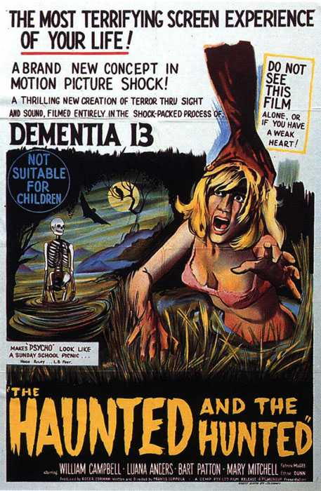 "poster for ""Dementia 13"" by Francis Ford Coppola (1963)"