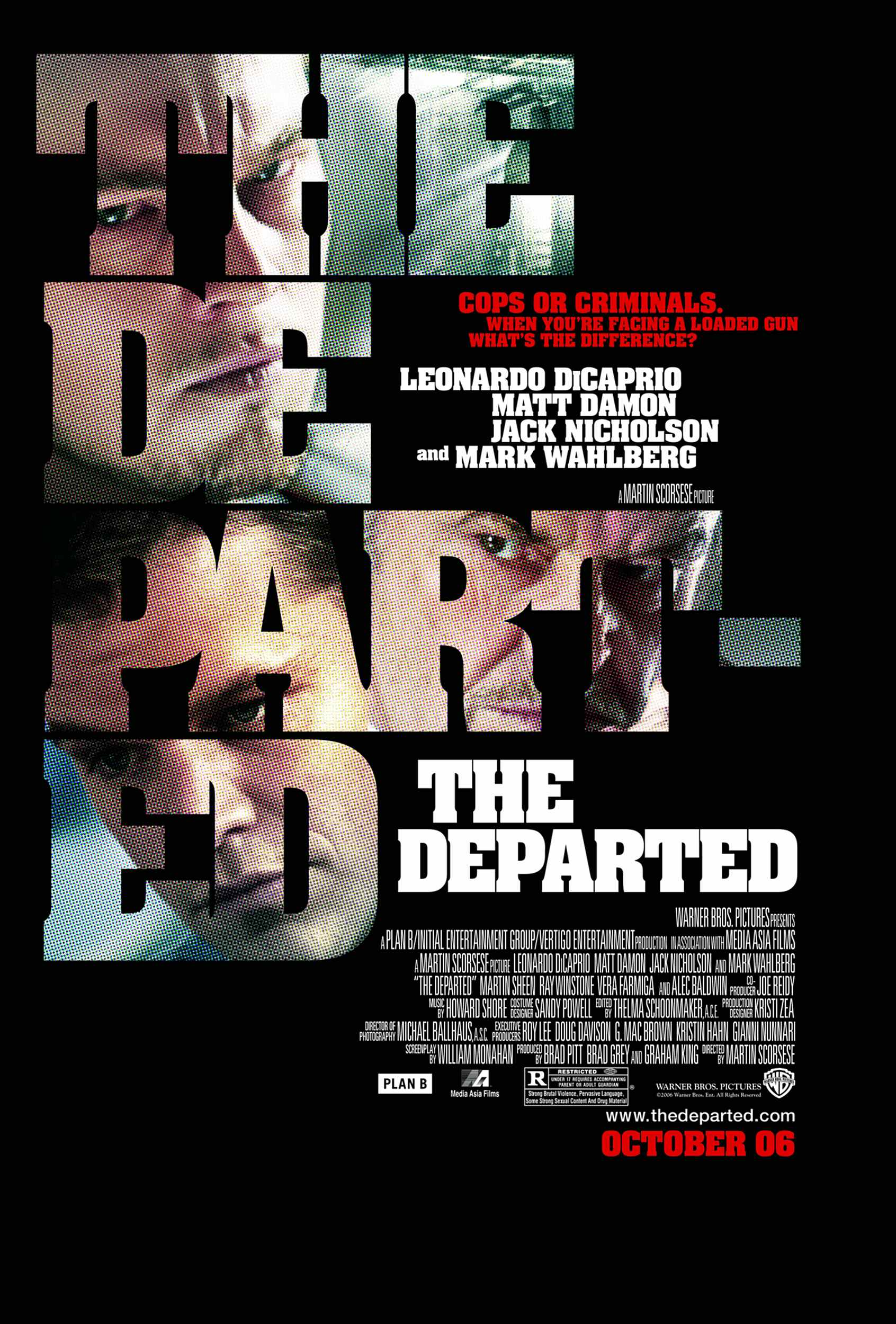 "poster for ""Departed, The"" by Martin Scorsese(2006)"