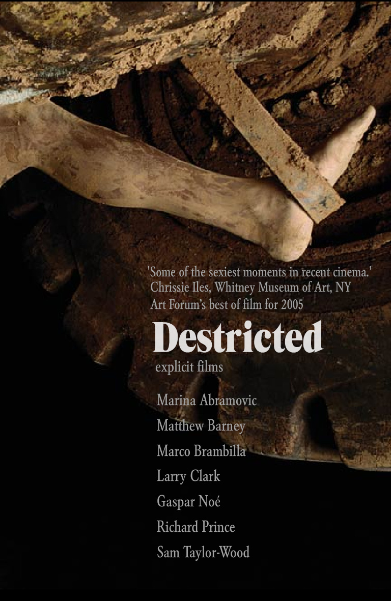 "poster for ""Destricted"" by Marina Abramovic 