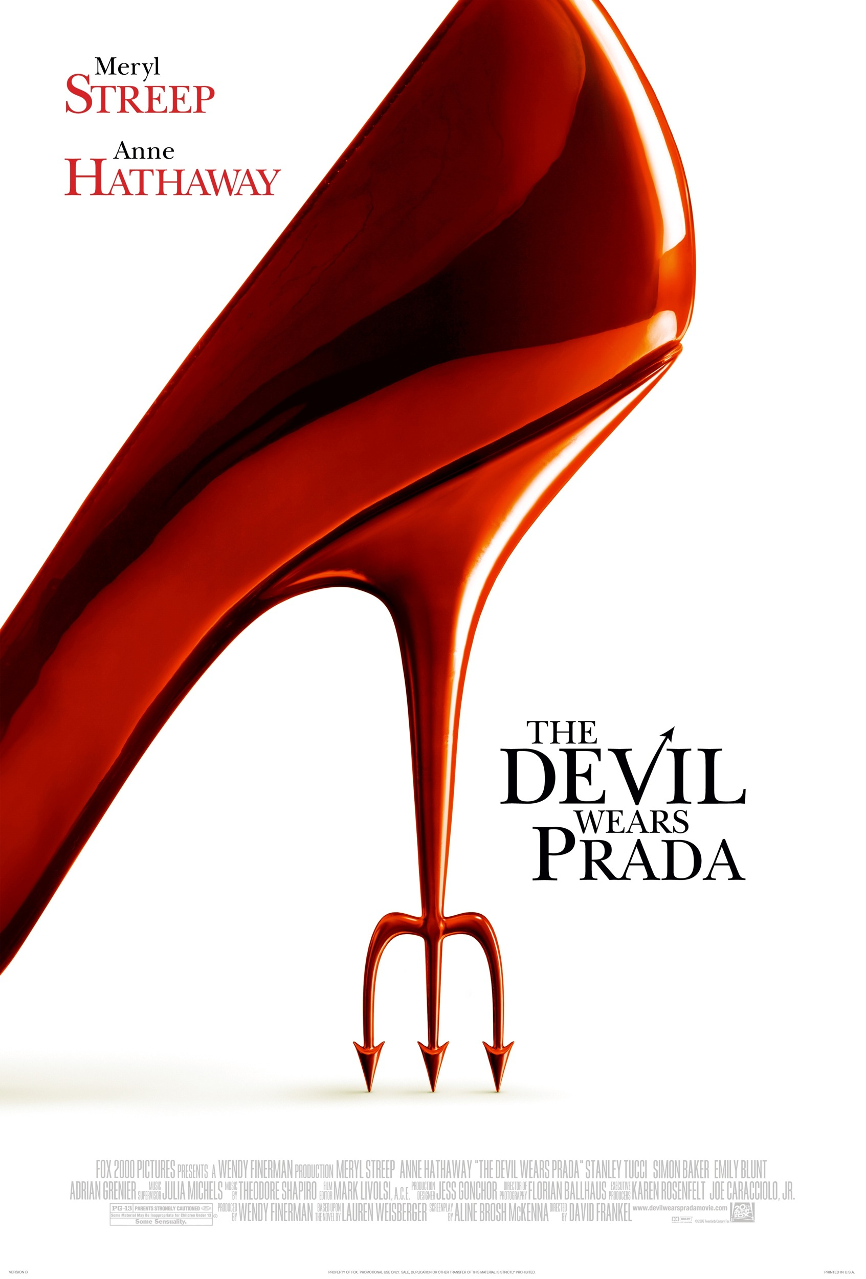 "poster for ""Devil Wears Prada, The"" by David Frankel (2006)"