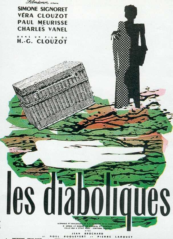 "poster for ""Diaboliques, Les (The Devils (US), The Fiends (UK))"" by Henri-Georges Clouzot(1955)"