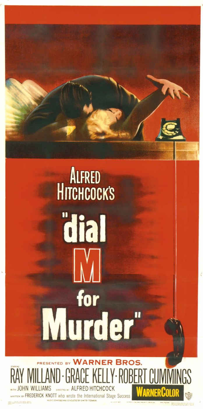 "poster for ""Dial M For Murder"" by Alfred Hitchcock(1954)"