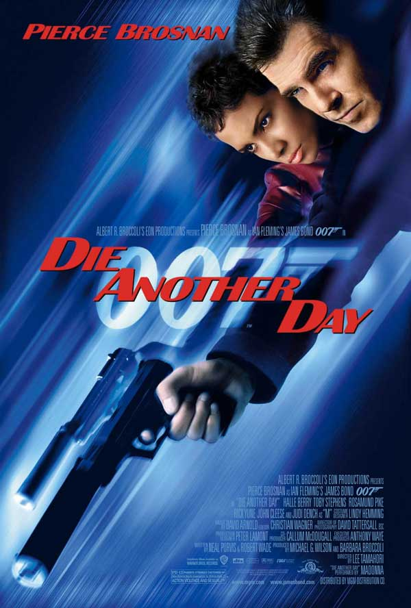 "poster for ""Die Another Day"" by Lee Tamahori (2002)"