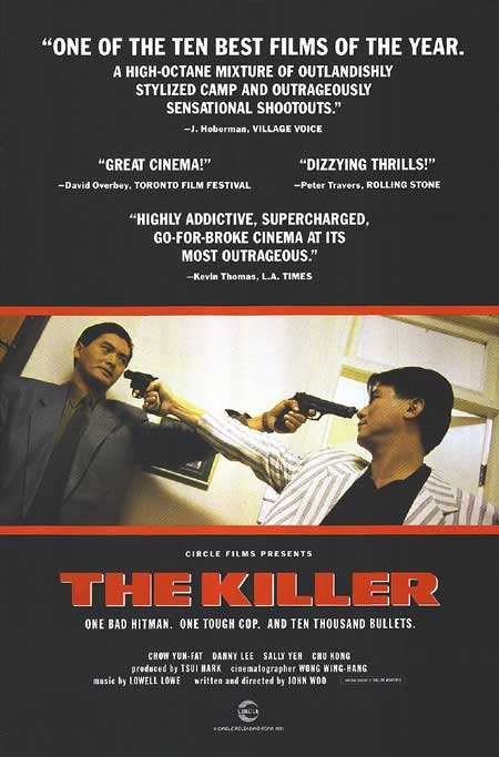 "poster for ""Die Xue Shuang Xiong (The Killer)"" by John Woo(1989)"