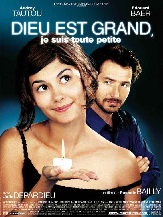"poster for ""Dieu est grand, je suis toute petite"" by Pascale Bailly (2001)"