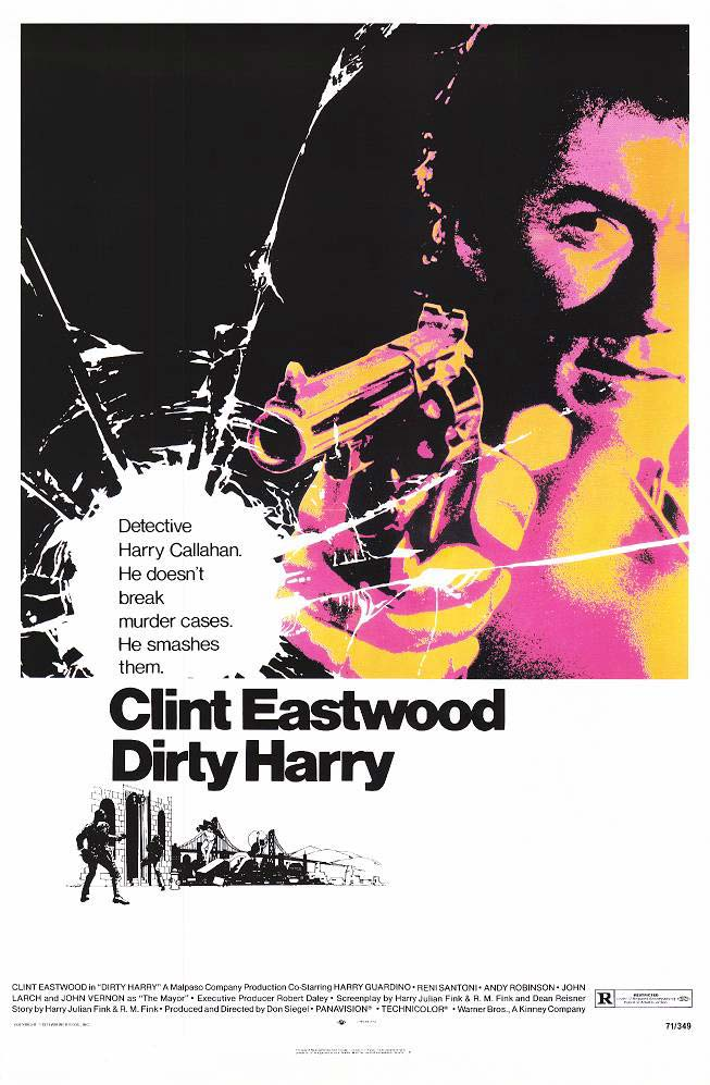 "poster for ""Dirty Harry"" by Don Siegel (1971)"