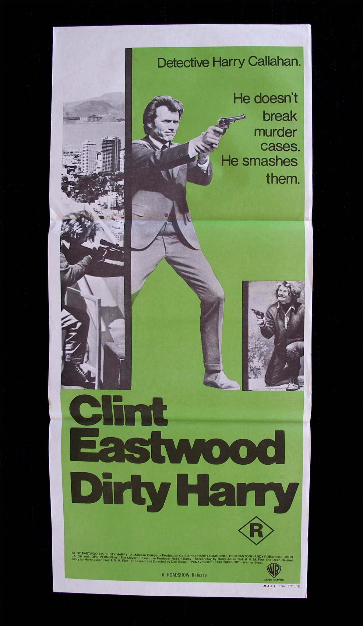"poster for ""Dirty Harry&quot"