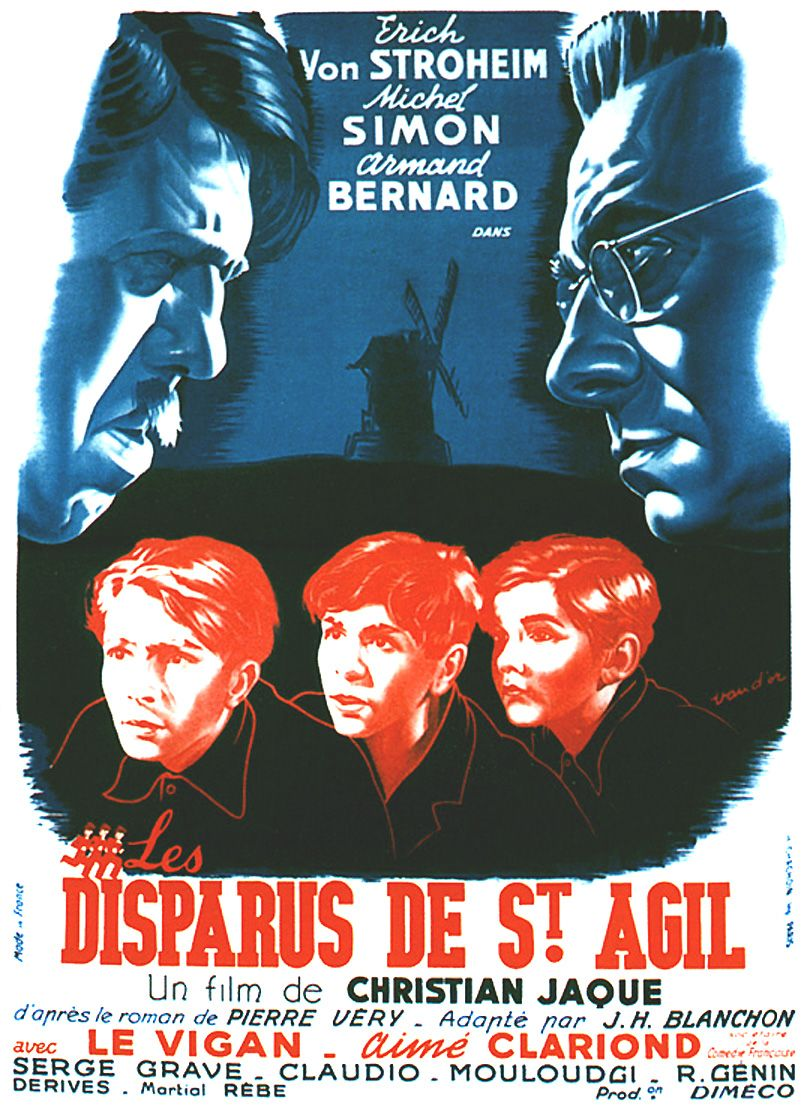 "poster for ""Disparus de St Agil, Les"" by Christian-Jaque (1938)"