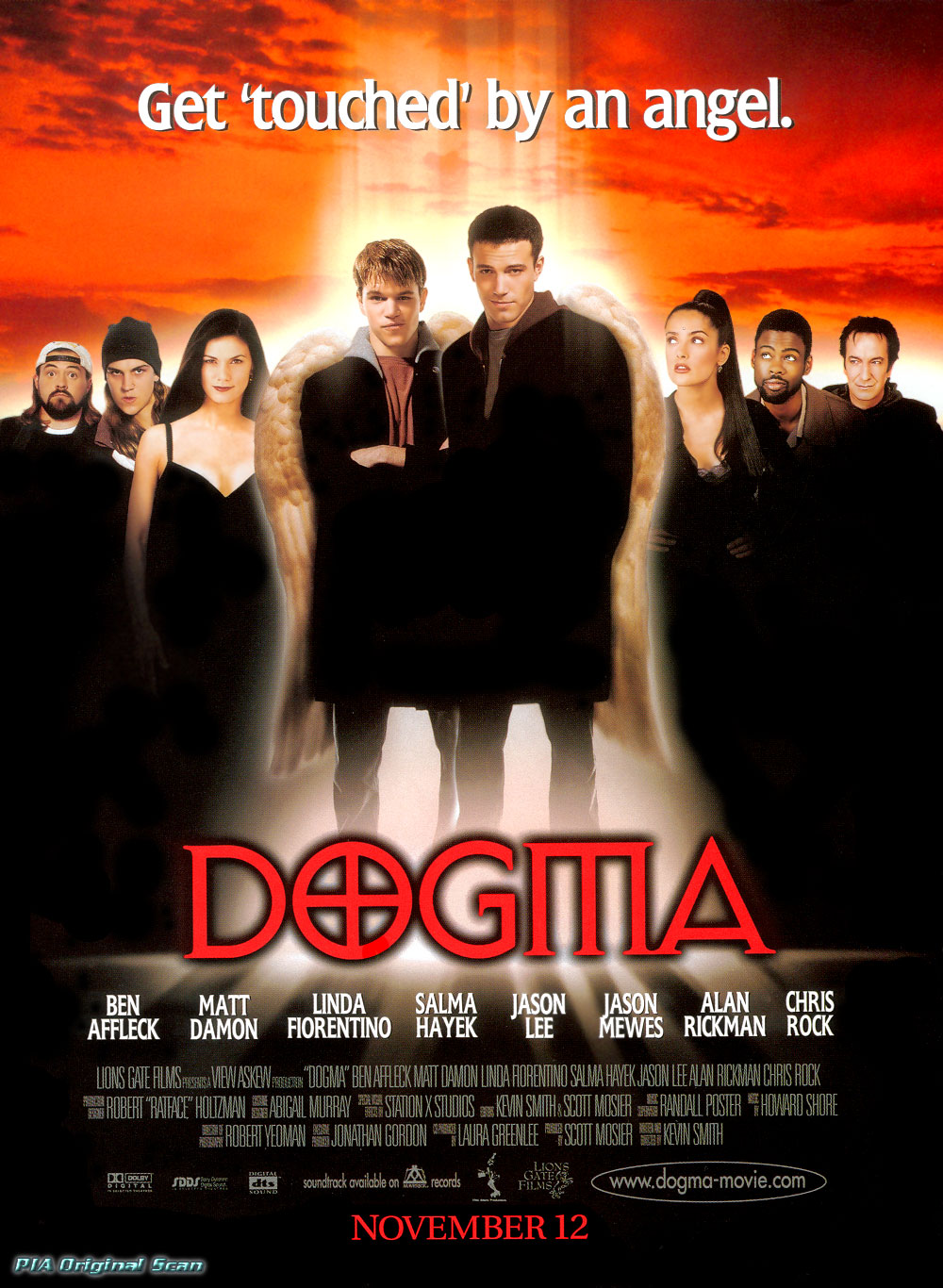 "poster for ""Dogma"" by Kevin Smith (1999)"
