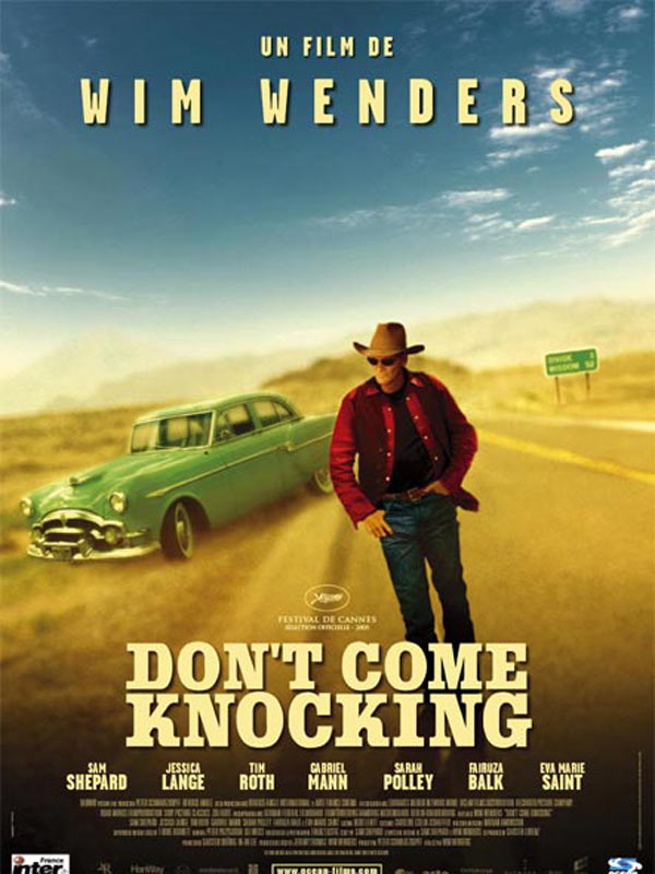 "poster for ""Don't Come Knocking"" by Wim Wenders(2005)"