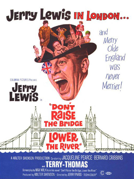 "poster for ""Don't Raise the Bridge, Lower the River"" by Jerry Paris (1967)"