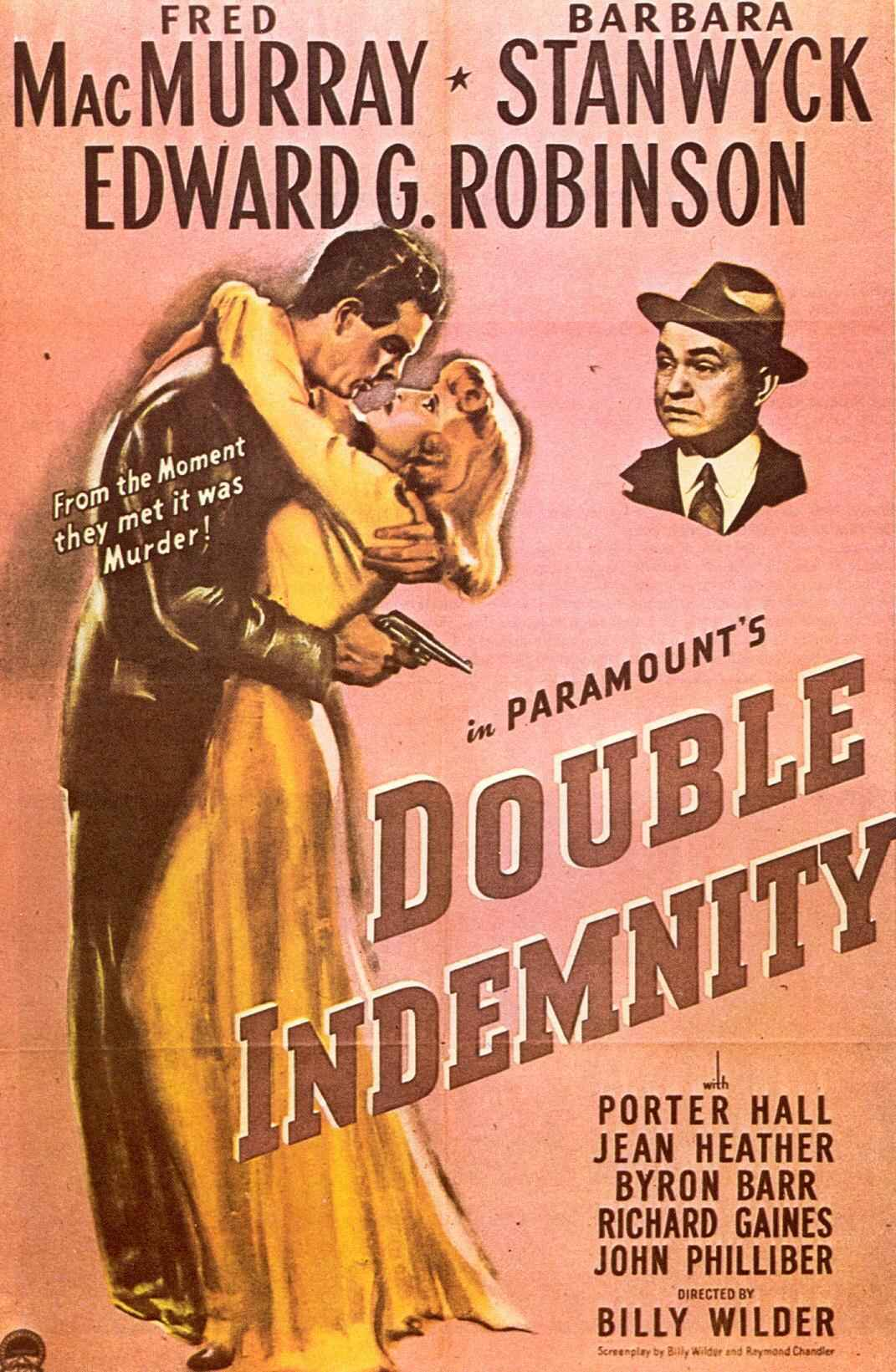 "poster for ""Double Indemnity"" by Billy Wilder(1944)"