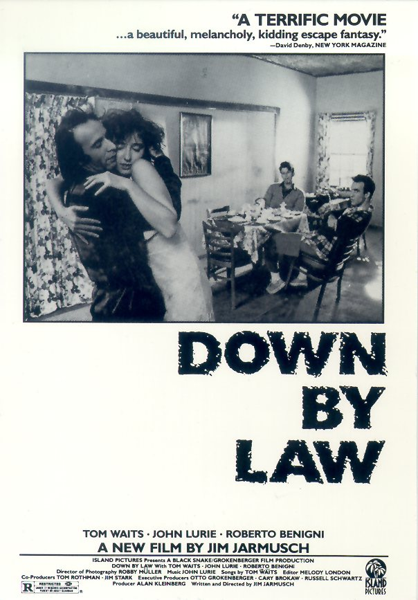 "poster for ""Down By Law"" by Jim Jarmusch(1986)"