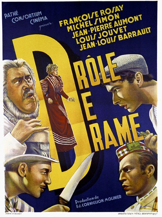 "poster for ""Dr�le de Drame"" by Marcel Carn�(1937)"