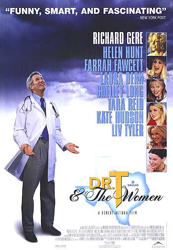 "poster for ""Dr T and the Women"" by Robert Altman (2000)"