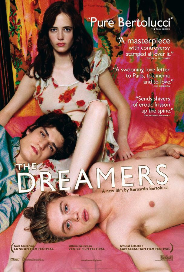 "poster for ""Dreamers, The"" by Bernardo Bertolucci (2003)"