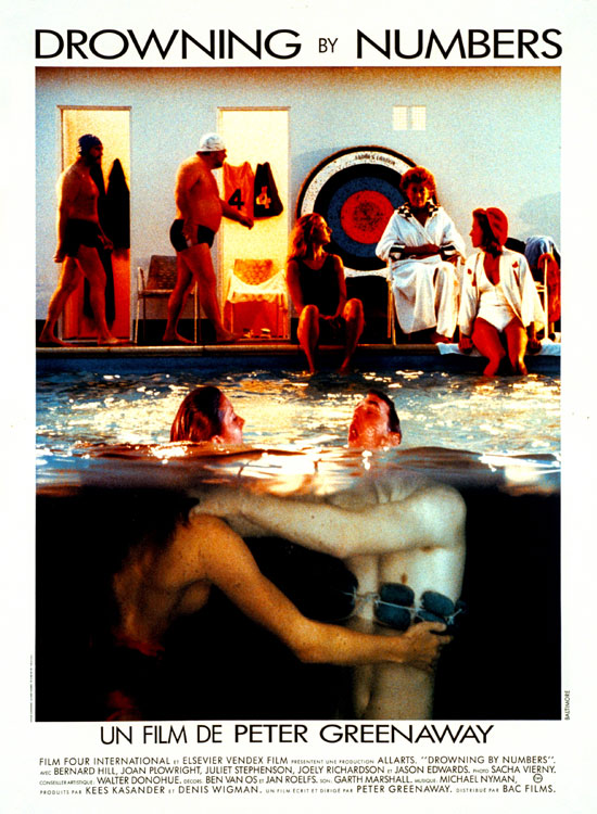 "poster for ""Drowning by Numbers"" by Peter Greenaway(1988)"