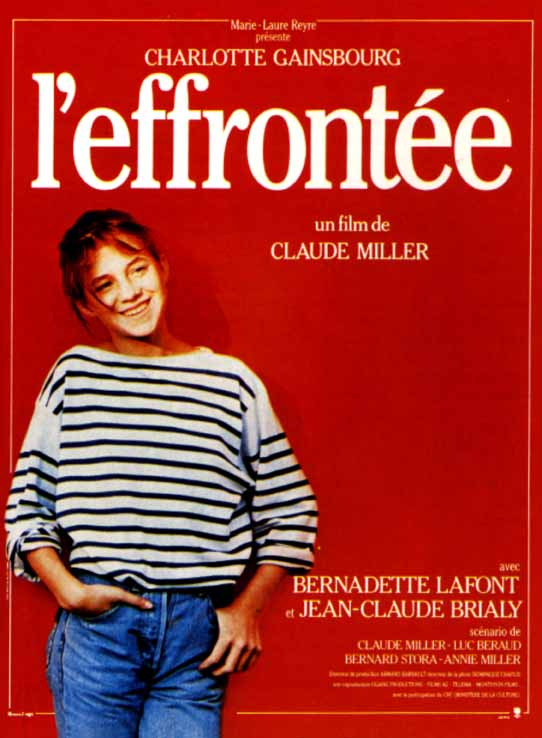 "poster for ""Effront�e, L'"" by Claude Miller(1985)"