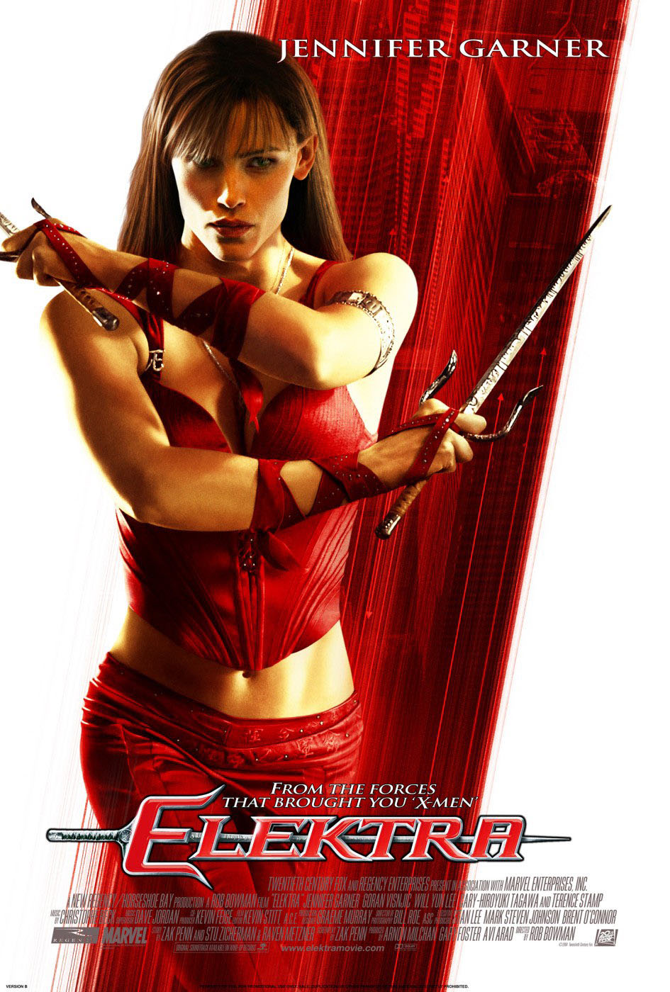 "poster for ""Elektra"" by Rob Bowman (2005)"