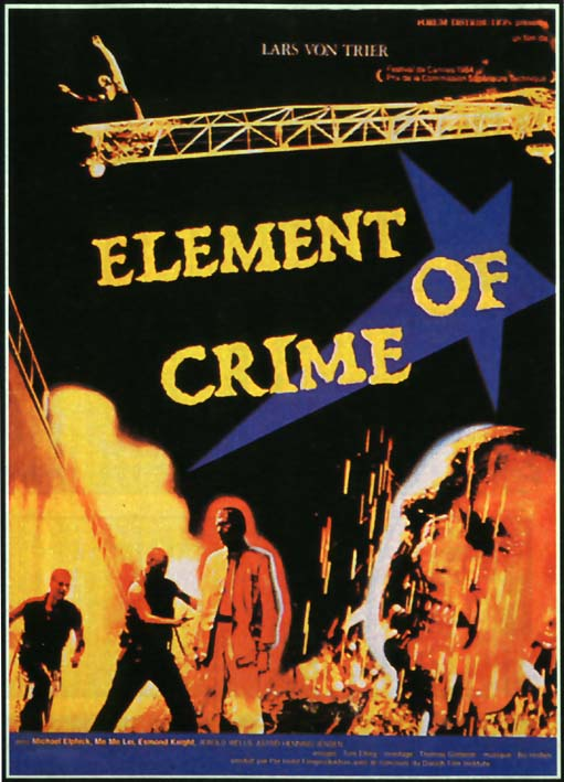 "poster for ""Forbrydelsens element (Element of Crime)"" by Lars von Trier(1984)"
