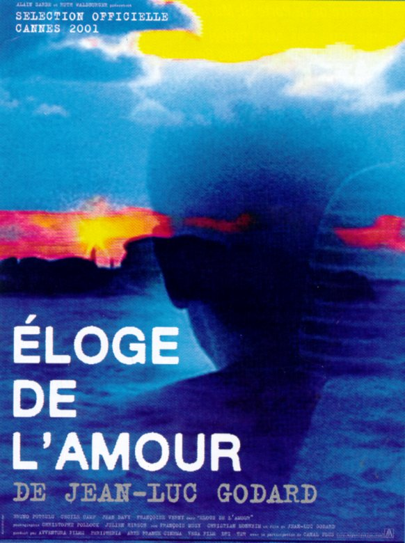 "poster for ""Eloge de l'Amour"" by Jean-Luc Godard(2001)"