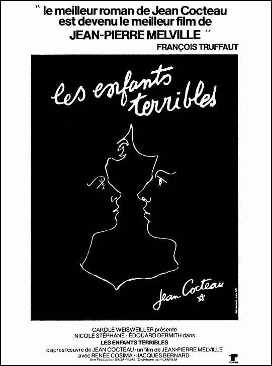 "poster for ""Enfants Terribles, Les"" by Jean-Pierre Melville (1950)"