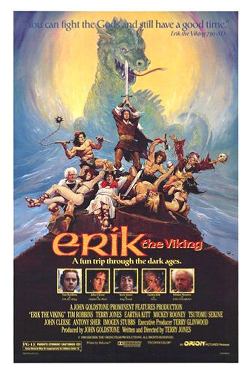 "poster for ""Erik The Viking"" by Terry Jones (1989)"